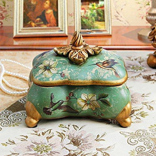 American vintage jewelry box rurale/scatola di gioielli