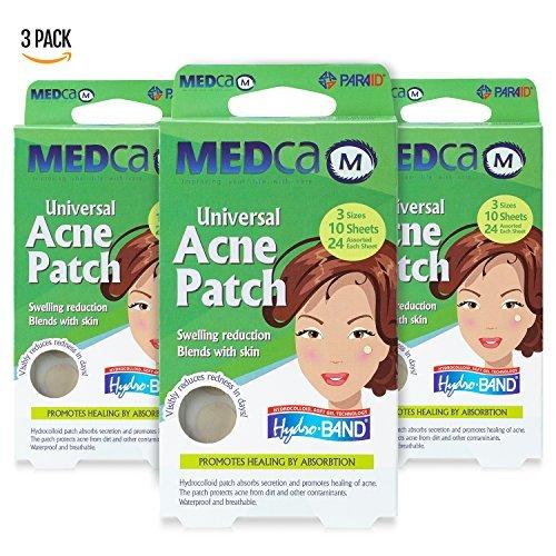Aknepflege Pickel-Patch absorbierende Abdeckung - Hydrokolloid Pflaster (108 Stück) Zwei Universalgrößen, Akne-Spot-Behandlung für Gesicht und Hautflecken Patch, der Akne verbirgt und Pickel reduziert