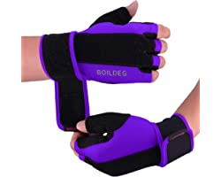 BOILDEG Gym Gloves,Training Gloves with Wrist Support Breathable Sport Gloves Full Palm Protection & Extra Grip Anti-Slip,Wei
