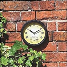 Nuevo reloj de pared para jardín de estilo vintage con termómetro ... f33dad67416da