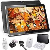 Tablette Tactile 10 Pouces 4G Android 9.0 Certifié par Google GMS avec 4Go de RAM 64Go ROM, Extensible à 128 Go, Tablette Interface de Charge Magnétique, Doule SIM Quad Core, WiFi, GPS