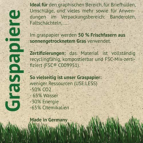 Feel Green 250 Bögen DIN A4-85 g/m² Graspapier   Öko-Briefbogen Aus 50{ed74115160d5a5ffc7f31e762a09669629996b3b3c8fb88769321df85125f667} Sonnengetrocknetem Gras   Recyclingfähig, Kompostierbar Und FSC-Mix-Zertifiziert   Made In Germany, Braun-85