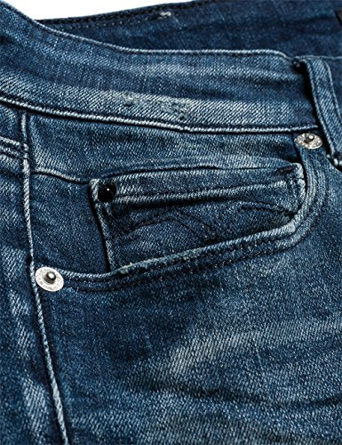 Replay Damen skinny fit Jeanshose Rose Blau (Blue Denim 9)