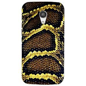 snake skin design-Mobile Back Case Cover For Moto G2