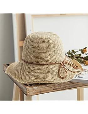 LVLIDAN Sombrero para el sol del verano Dama SolAnti-sol Beachstrawhat beige Simplestyle plegable