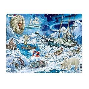 Larsen-Puzzle Enmarcado Polo Norte 65Piezas, NB7
