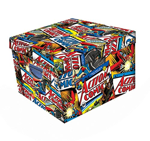 Image of Robert Frederick Action Comics Superman Collapsible Storage Box, Plastic, Assorted