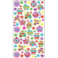 Purple Peach Fun, Social and Educational Sticker Sheets (Pack of 12) Reward Stickers  for Parents and Teachers