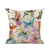 Redland Art Colorato Farfalla Fiori Modello Cotone Biancheria Divano federe Cuscino Caso Copertina Casa Decorazione i regali 50x50cm