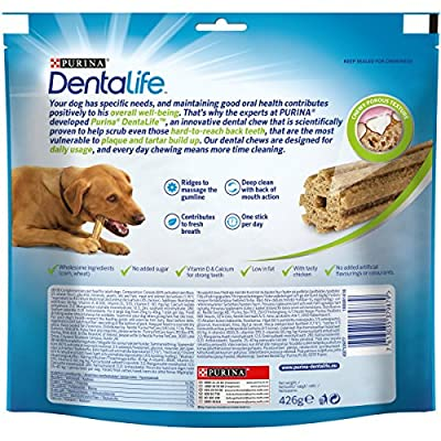 Dentalife Dental Chews for Large Adult Dogs, 12 sticks, 426g