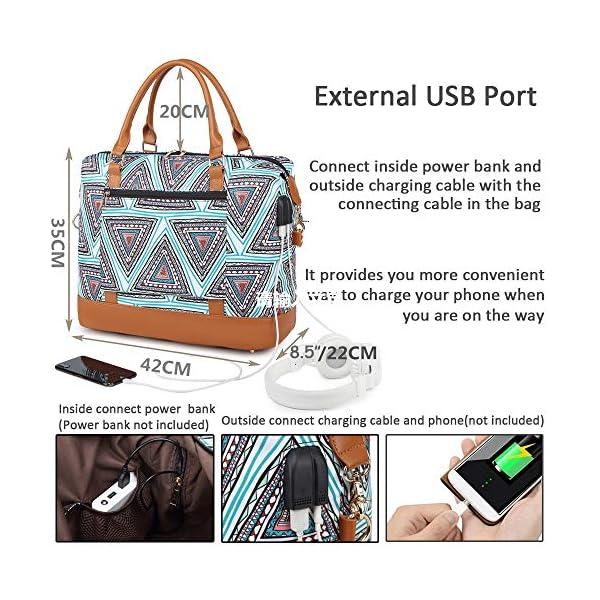61Gbeea%2BNFL. SS600  - Bolso de Viaje Mujer de Mano Impermeable Bolso de Compras Grande Bolsa de Deporte Duffle Bag con Puerto USB para…