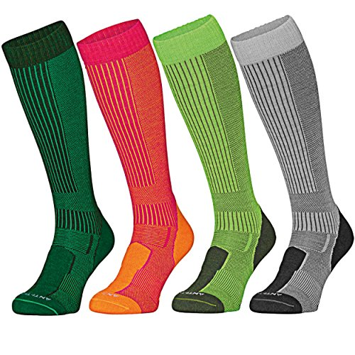 DANISH ENDURANCE Anti-Tick Merino Wool Outdoor Socks (EU 43-47, Dunkelgrün - 1 Paar)