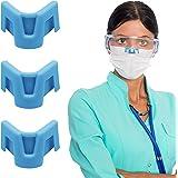 HSAJS Accessoire om te voorkomen dat oogbril mist,3-delige neusbrug voor gezichtsbedekking, siliconen anti-condens neusbrugst