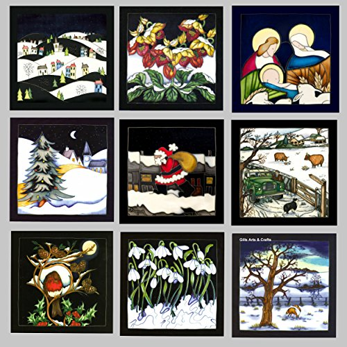 Moorcroft Set Of 9 Different Christmas Cards