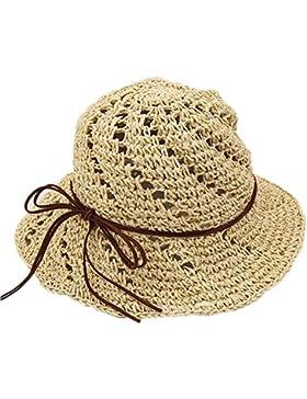 kanggest Cappello di paglia di Los Bambina del verano con cappello per il sole con una corda di pelle per il cappello...