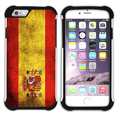 Graphic4You Vintage Uralt Flagge Von Finnland Finnisch Design Hart + Weiche Kratzfeste Hülle Case Schale Tasche Schutzhülle für Apple iPhone 6 / 6S Spanien Spanisch