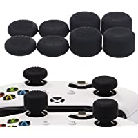 YoRHa Professional Thumb Grips Thumbstick Joystick Cap Cover (black) Extra High 8 Units Pack for Xbox One, Xbox One X…