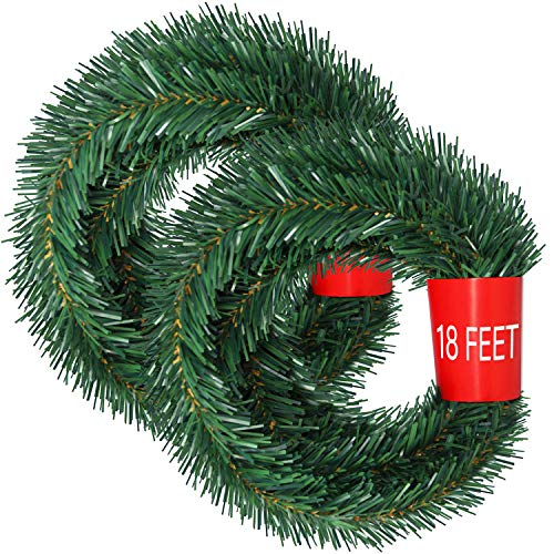 Lvyleaf Guirnalda de Navidad de 36 pies, 2 hebras de Guirnalda de...