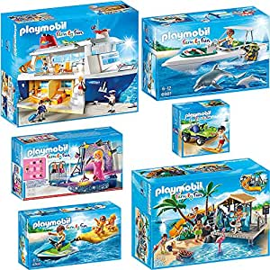 playmobil bateau de croisi re set complet 6978 6979 6980 6981 6982 6983 new jeux. Black Bedroom Furniture Sets. Home Design Ideas