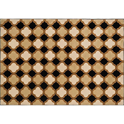 Loloi Rugs Shelton Collection Übergangs-Teppich, 100% Polypropylen, Schwarz/Camel, 3-Feet 10-Inch by 5-Feet 7-Inch -