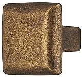 Design Möbelgriff vernickelt schwarz matt Möbelknopf Vintage Antik Schrankknopf eckig für Schubladen - H1370 | Knopf quadratisch 25 mm | Höhe 27 mm | Möbelbeschläge von GedoTec®