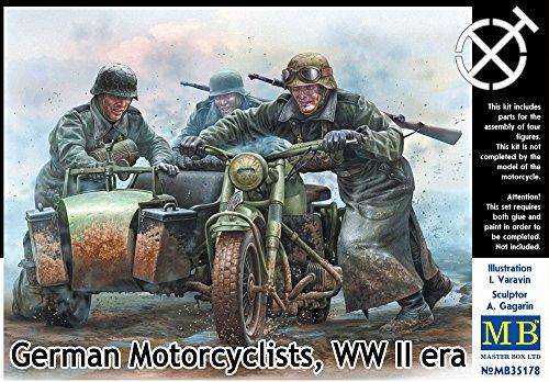 Master box mb35178 - 1/35 tedesco della seconda guerra mondiale era motociclisti