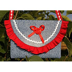 Mädchentasche mit roter Rüsche