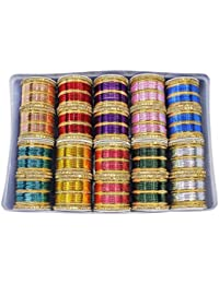 MUCH MORE Gorgeous Multi Color Bangle Box Set For Women & Girls Wedding Jewelry