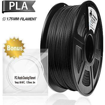 2.2lbs Esun 1.75mm Black Abs 3d Printer Filament 1kg Spool Black