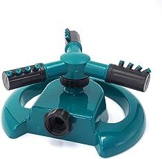 ausing Three Arm Water Sprinkler 360 Degree Automatic Rotating Watering Head Garden Supplies Grass Lawn Sprinkler