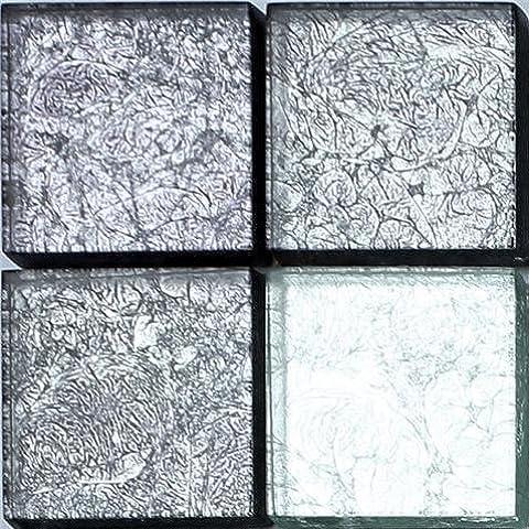 10x 10cm campione Grigio Mix Hong Kong Pellicola Vetro Mosaico Piastrelle (mt0092) - Mix Piastrelle