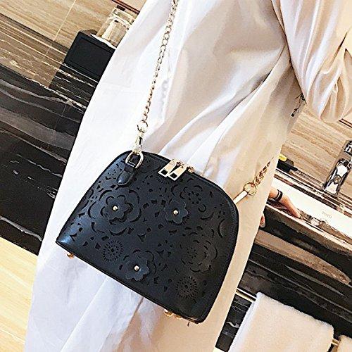 kleine frau Schulter messenger messenger Weibliche mode einfache farbe Kette mini-tasche Schwarz