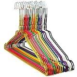 Hangerworld 100 Stück verzinkte Metall Kleiderbügel mit bunter Beschichtung - Für den Heimgebrauch, Reinigungen oder Einzelhändler - ca. 40.5 cm.