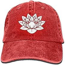 Aoliaoyudonggha Lotus Flower Design Floral Adjustable Baseball Caps Denim  Hats Cowboy Sport Outdoor 51a420eed31