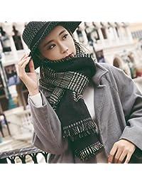 YQQ-bufanda Mujer Invierno Larga Sección Pata De Gallo De Doble Cara (Color :