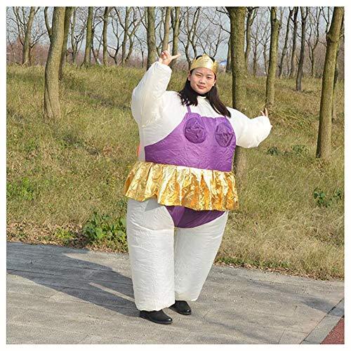Frankenstein Kostüm Weiblich - XIONGDA Aufblasbare Kostüm Ballerina Lustige Street Performance Kleidung Erwachsene Kreative Einzigartige Kostüm Requisiten für Single Party Halloween Weihnachten Cosplay Party,Purple