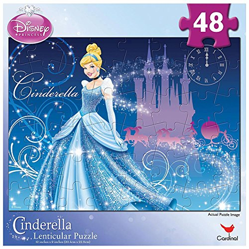 Disney Princess Lenticular Puzzle - Disney Princess Cinderella Lenticular Puzzle 48