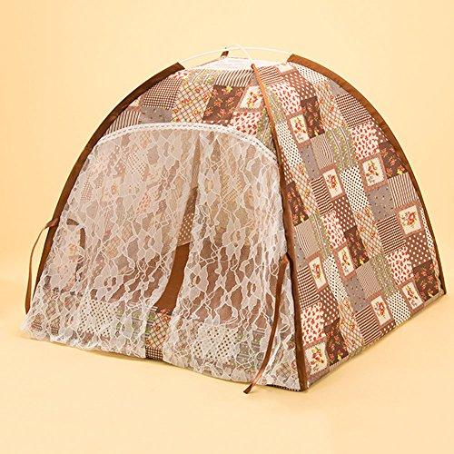 Pet Tente Kennel amovible Wash Moustiquaires Dog Housecat Nest, Trois couleurs sont disponibles ( Couleur : C , taille : L )
