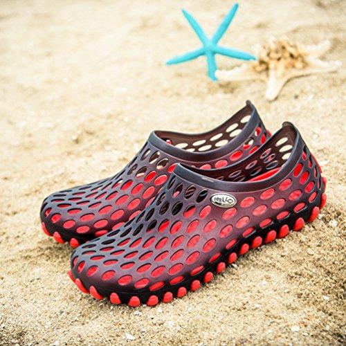 Sentao Hommes Antidérapant Plage Sabots Jardin Sandales Indoor/Outdoor Pantoufle Plage-Sport de Chaussures style 3