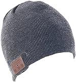 Callstel Mütze mit Kopfhörer: Beanie-Mütze mit integriertem Stereo-Headset und Bluetooth 4.2, grau (Kopfhörermütze)