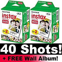 Instax Mini Film, für 40 Aufnahmen, inkl. Wand-Fotoalbum