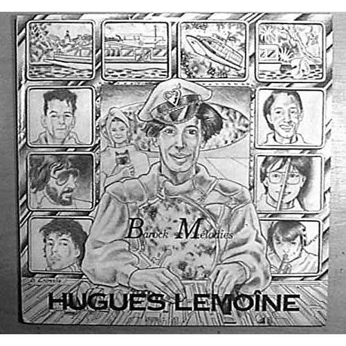 BAROCK MELODIES : Vinyl autoproduit de huit rock chansons françaises enregistré en 1986 en studio seize pistes à bandes et pressé par AERACEM à compte d'auteur à 1000 exemplaires