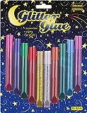 Idena 634145 - Glitter Glue 10 Farben a 10.5 ml