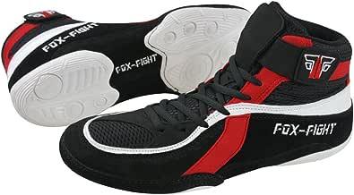FOX-FIGHT, Scarpe da Wrestling uomo, Nero (nero/rosso), 39