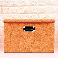 Cokosim 18inch Fabric Folding Storage Bin Box Organiser Tool For Book,magazine,kids Toy,clothing