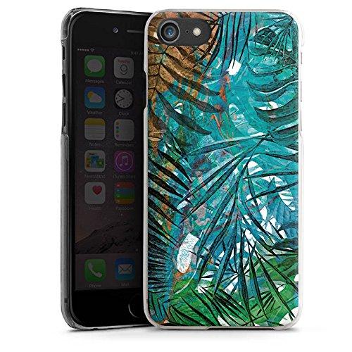 Apple iPhone X Silikon Hülle Case Schutzhülle Palmenblätter Dschungel Palme Hard Case transparent