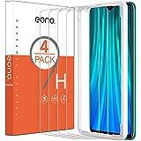 Eono Essentials [4 stuks] kogelvrij glas beschermfolie voor Xiaomi Redmi Note 8 Pro, 9H hardheid, anti-kras, anti-olie, anti-