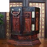 MYITIAN Lao drehen Rot Palisander-Schmuck-Box Juwel rote Holzmöbel und Ornamente Hochzeit Mitgift Arts And Crafts-A