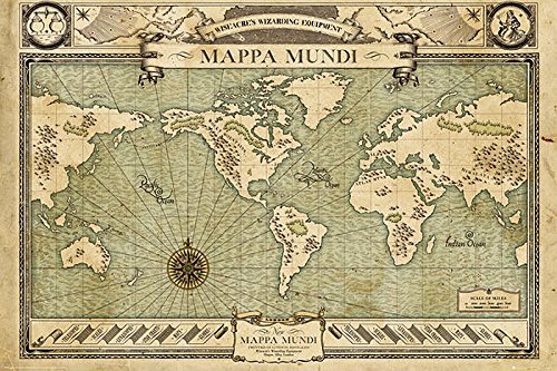 Poster Fantastic Beast and Where to find them - Mappa Mundi (91,5cm x 61cm)