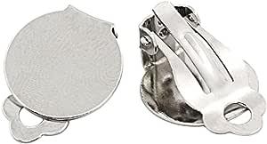 Housweety - 50supporti-clip per orecchini, dimensioni: 15x 20mm, design personalizzato, gioiello alla moda